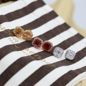 Henri Bendel Zircon Square Shining Earrings